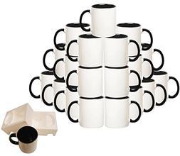 Mug 36-Piece Double Sublimation Coated Ceramic Mugs, 11 Oz,