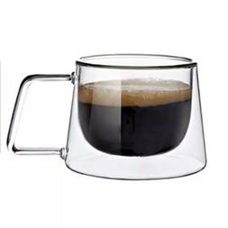 Double Wall Glass Cups. Ideal For Cappuccino, Coffee, Tea, E