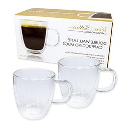Double Wall Glass Espresso Latte Cappuccino Nespresso Mug, C
