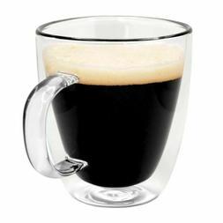 double wall glass mug insulated coffee cup