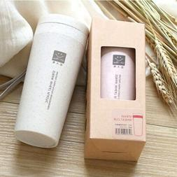 Double-wall Portable Wheat Straw Coffee Cup Travel Mug Leak