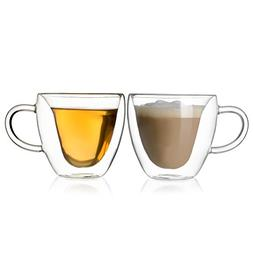Double Walled Coffee Tea Glasses, Perfect Espresso Cappuccin
