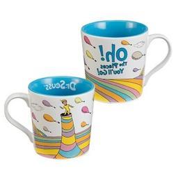 Dr. Seuss Oh The Places You'll Go White Coffee Mug Ceramic G