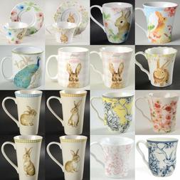 222 Fifth Easter Bunny Rabbit Pup Floral Coffee Mug For Your