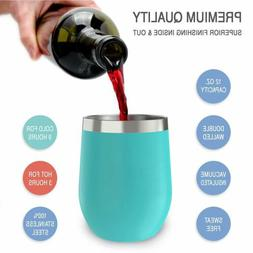Egg Cocktail Tumbler Wine Cup Stainless Steel Metal Goblet M