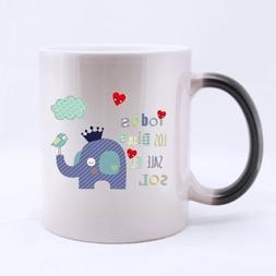 Elephant Heat Sensitive Color-changing Mug Personalized - Cu