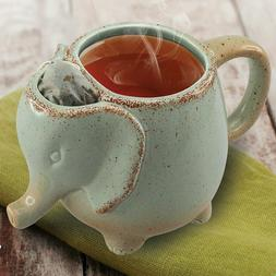 Elephant Tea Mug Mint Green - 10 OZ Heat-resistant Ceramic C