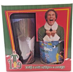 Elf Travel & Ceramic Mug 2-Pack Will Ferrell Christmas Colle