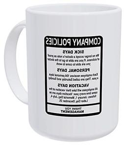 Employee Boss Office 15 Ounces Double Side Printed Funny Whi