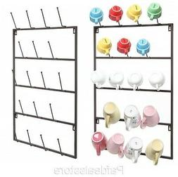 Espresso Cup Rack Tea Wall Mount Display Storage Organizer