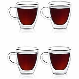 Espresso Glassware & Drinkware Cups, Insulated Demitasse Set