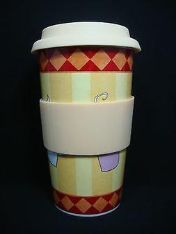 NEW Gibson Espresso Mondo Stoneware Coffee Tea Mug Brown Sle