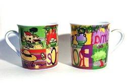 """Espresso Mug - """"Provence"""" - 4 oz.,Porcelain Mini Mug, Colorf"""