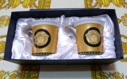 European Designer Retro Style 12 oz Gold And White Medusa Mu