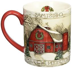 Lang Evergreen Farm Mug by Susan Winget, 14 oz., Multicolore