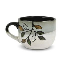 Pfaltzgraff Everyday Rustic Leaves Jumbo Soup Mug, 26-Ounce