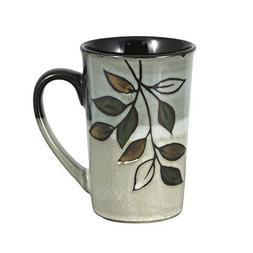 Pfaltzgraff Rustic Leaves Latte Mug, 16-Ounce