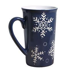 Pfaltzgraff Everyday Snow Flurry Latte Mug