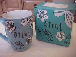 "CHRISTIAN ART GIFTS ""FAITH"" COFFEE/TEA MUG, NEW IN BOX"