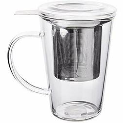 fashion simple style tea mug with infuser