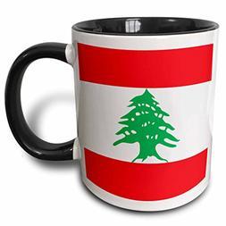 3dRose  Flag of Lebanon - Lebanese red and white stripes wit