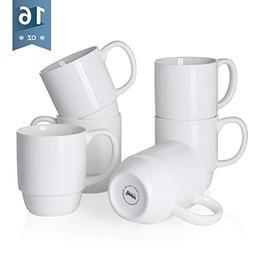 【Flash Deal】Sweese 6218 Porcelain Stackable Mug Set - 16