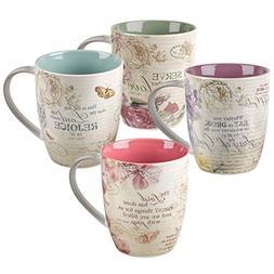 Floral Inspirations Collection Inspirational Mugs - Set / 4