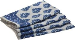 Mahogany Floral Print Napkin, 18-Inch by 18-Inch, Set of 4,