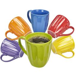 Klikel Coffee Mugs Set of 6 | Fluted Ceramic Mug | Hot Tea A