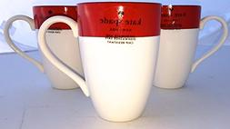 Four -Piece Lenox Kate Spade Rutherford Circle Red Pattern 1