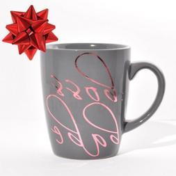 Boss Babe Gray & Rose Gold 12 Oz. Coffee Mug