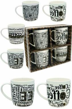 free shipping!!! Coffee Mug Set 4 Mug - 12 Ounce Porcelain M