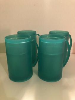 Freezable Double-Wall Plastic Mugs,16oz, Set of Four Pick Yo