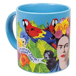 Frida Kahlo Art Coffee Mug - Famous Quotes in English and Sp