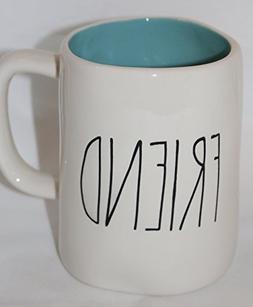 Rae Dunn Magenta FRIEND Mug Coffee Tea Blue Interior Cup