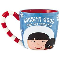 Frosty Friends Good Friends Mug, 13 oz. Mugs & Teacups
