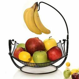 Fruit Basket + Detachable Banana holder, Elegant Fruit Bowl