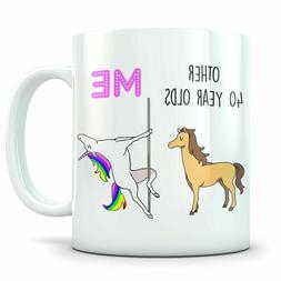 Funny 40th Birthday Gift 40th Birthday Mug 40 Year Old Birth