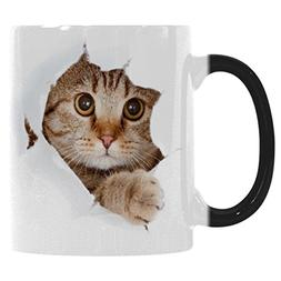InterestPrint Funny Cat Looking From The Inside I love My Ca