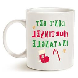 Funny Christmas Holiday Tinsel in a Tangle Coffee Mug, Best
