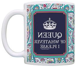 Funny Coffee Mugs for Women Queen of Whatever I Please Offic