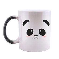 Feb.7 Funny Cute Panda Face Magic Color Changing Mug Unique