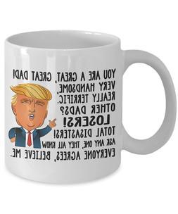 Funny Donald Trump Great Dad Coffee Mug Daddy Gift For Dad C