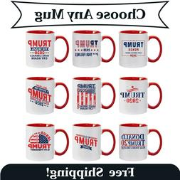 Funny Donald Trump Red Handle Ceramic Coffee Mug MAGA Re-Ele