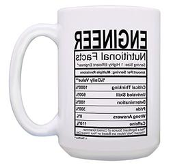 Funny Engineer Gifts for Men Engineer Nutritional Facts Engi