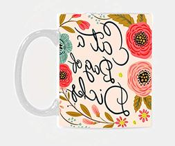 BLINY Funny Flower Quote Coffee Mug - Eat A Bag Of Dicks - C
