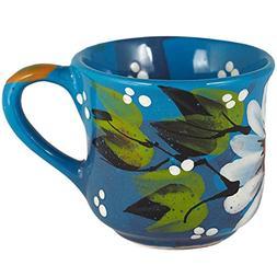 Funny flowers Ceramic Tea Mug 3oz/Cute Colorful Floral small