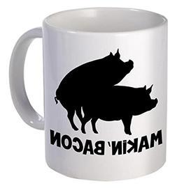Willcallyou Makin' Bacon Pigs Breakfast 11 Ounces Funny Coff