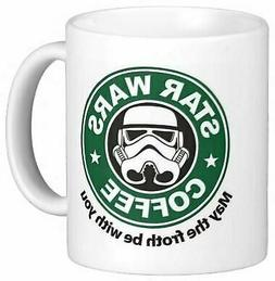 May the Froth Be With You 11 Ounces Funny Coffee Mug