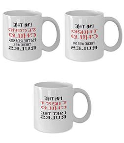 Funny Gift Mugs for Families with Three Children - Rules - S